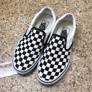 Vans Checkerboard Classic Slip-On Black and White